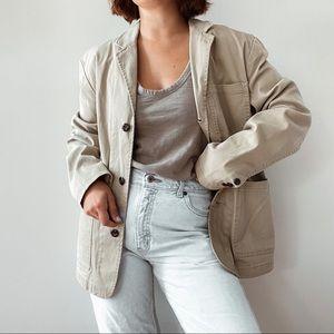 ST. JOHN'S BAY   Tan Oversized Blazer Jacket Sz M